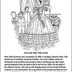 Abraham Lincoln Coloring Sheets - Coloring Home | 301x301