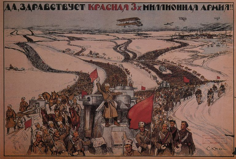 Long Live the Three-million Man Red Army!, 1919. Artist: Anonymous