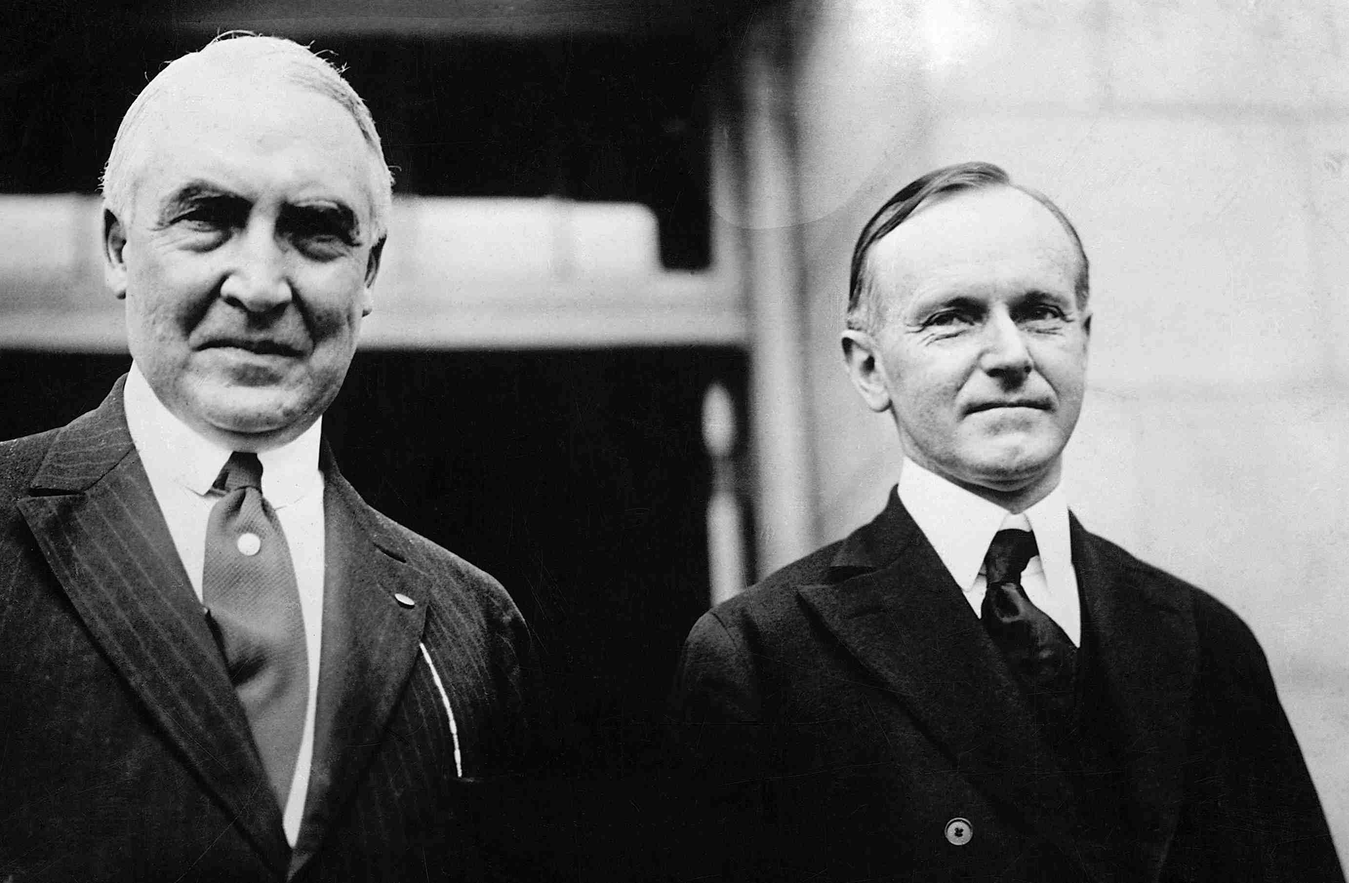 photograph of Warren Harding and Calvin Coolidge