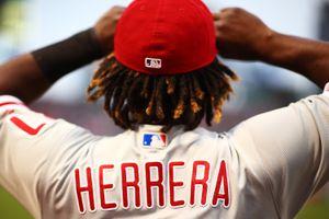 Odubel Herrera #37 of the Philadelphia Phillies