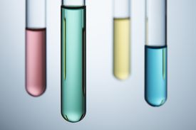 Calculate the volume in a test tube using the volume formula for a cylinder and converting it to the proper units.