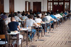 French high school classroom