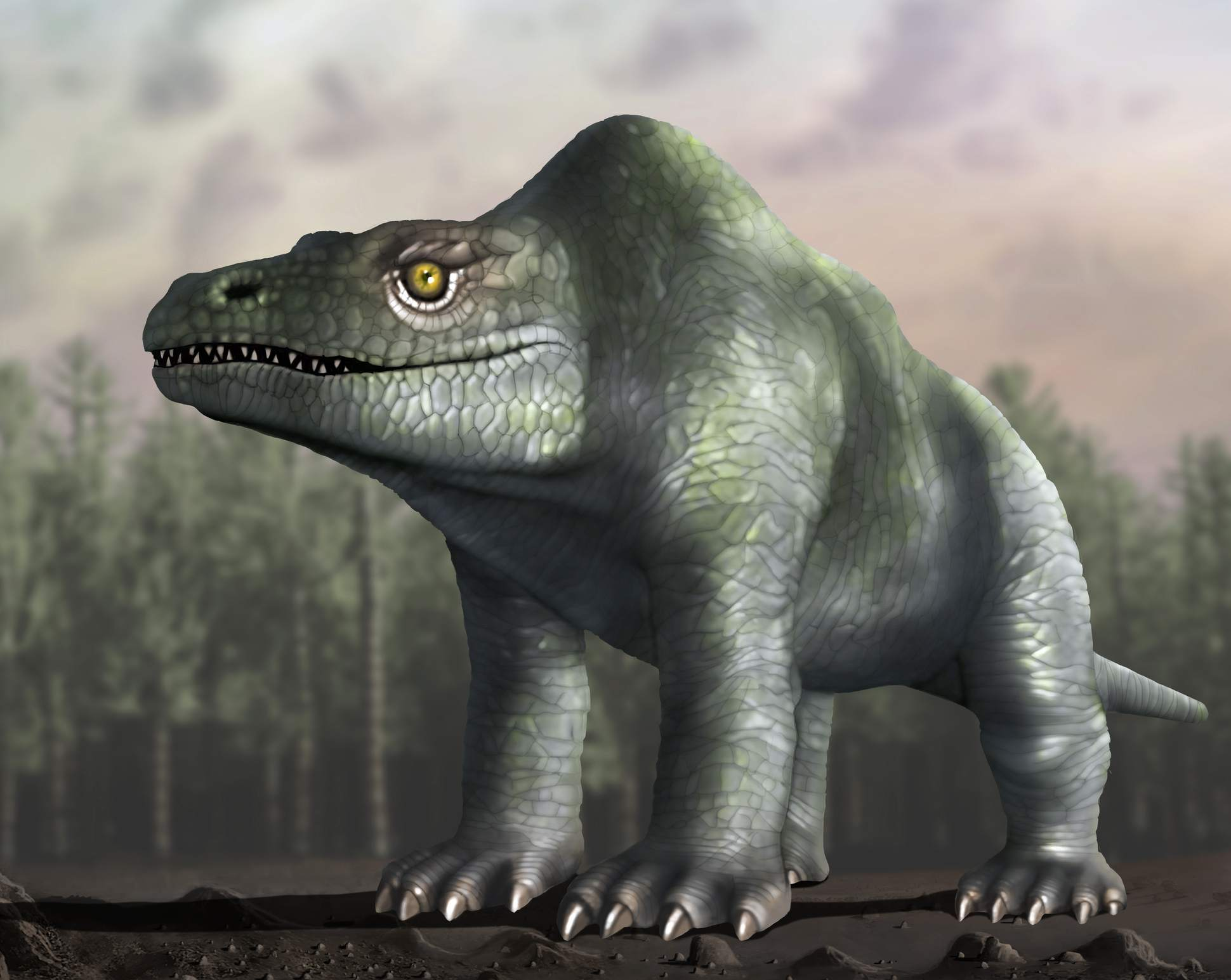 Megalosaurus, Retro Look, illustration