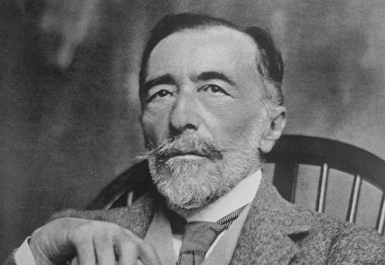Author Joseph Conrad Posing with Cane