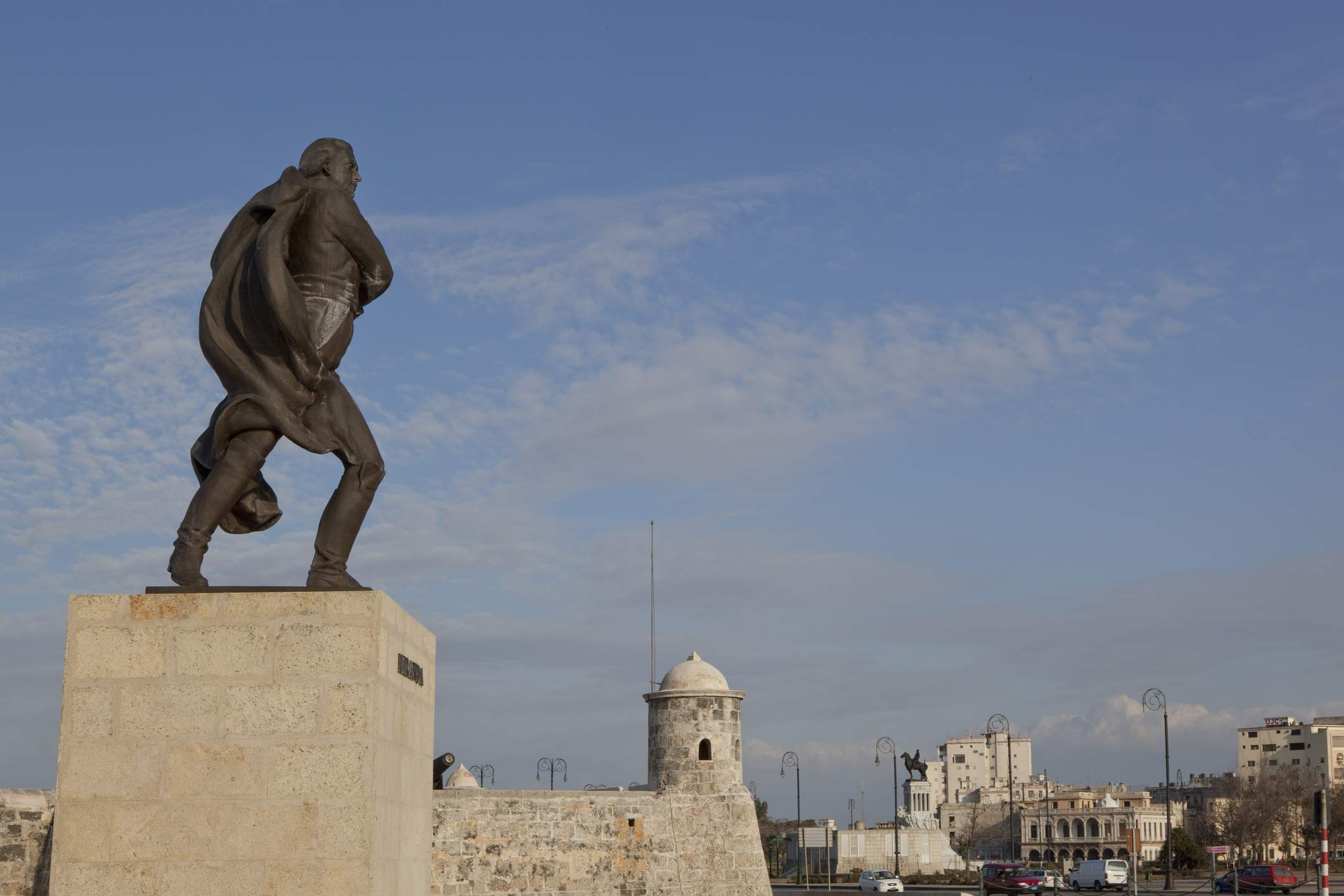Statue of Francisco de Miranda in Havanna, Cuba