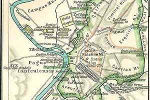 Republican Map of Rome: c. 40 B.C.