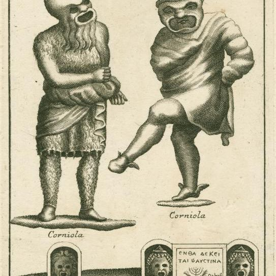 Image ID: 1624145 [Roman pantomime actors in masks] (1736)