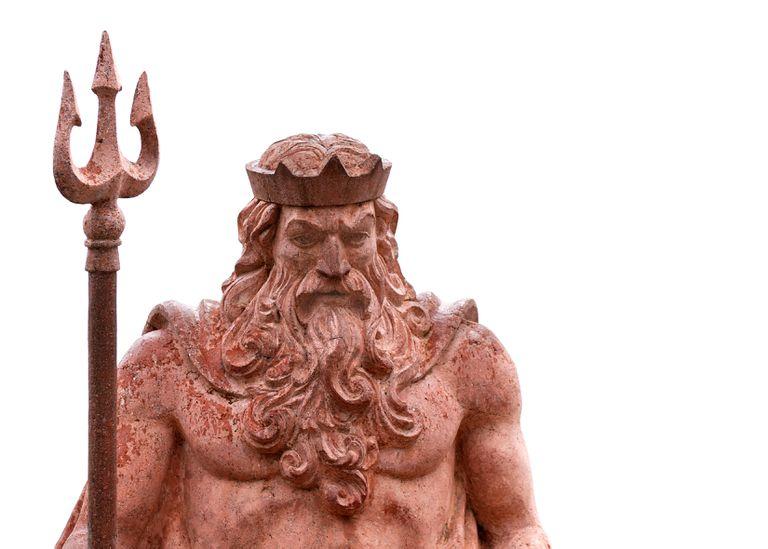 Close up of Poseidon statue.