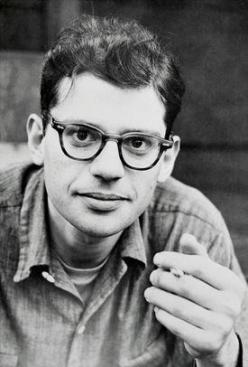 Close up of Allen Ginsburg
