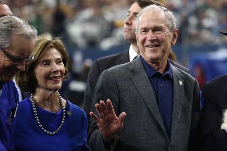 George W. Bush and wife