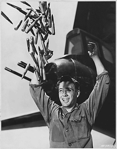 Joyful reaction as U.S. troops learn that the Korean War is over, July, 1953.