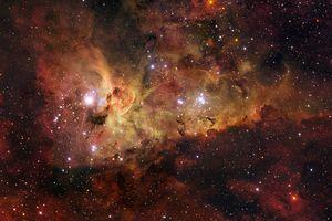 The Carina nebula in space.