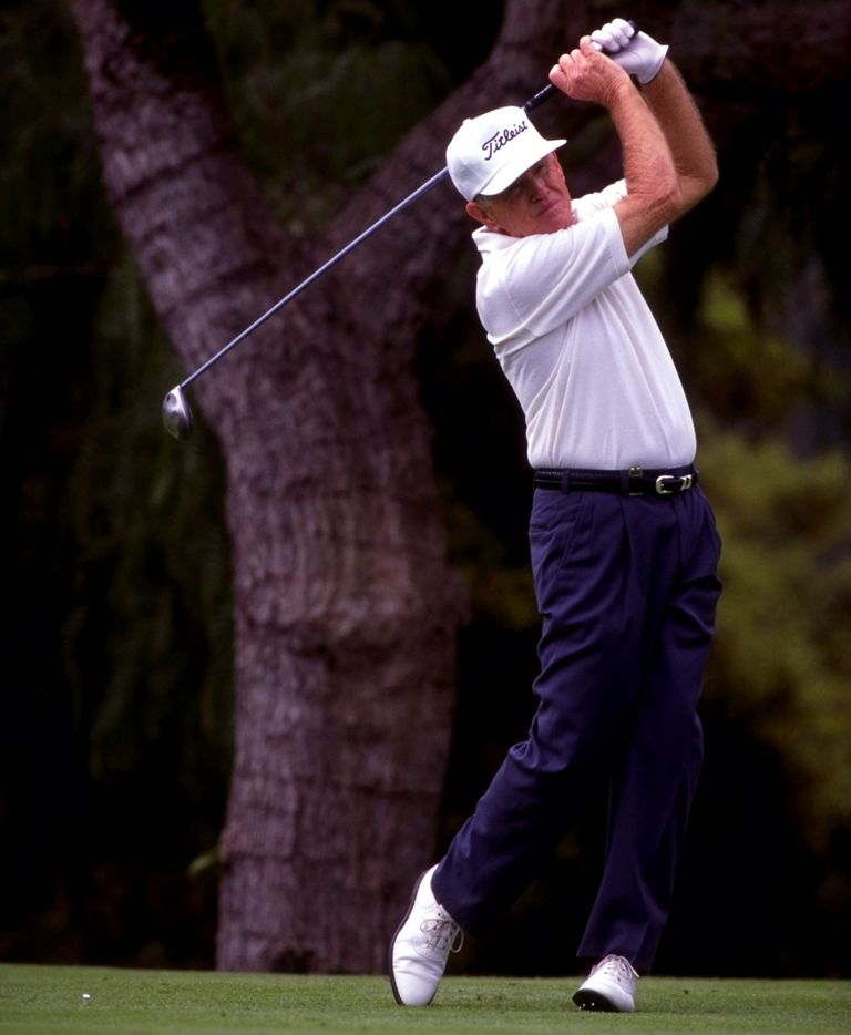 Gene Littler playing on the Champions Tour in 1995.