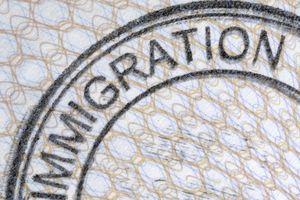 Sello de Inmigración de Estados Unidos.