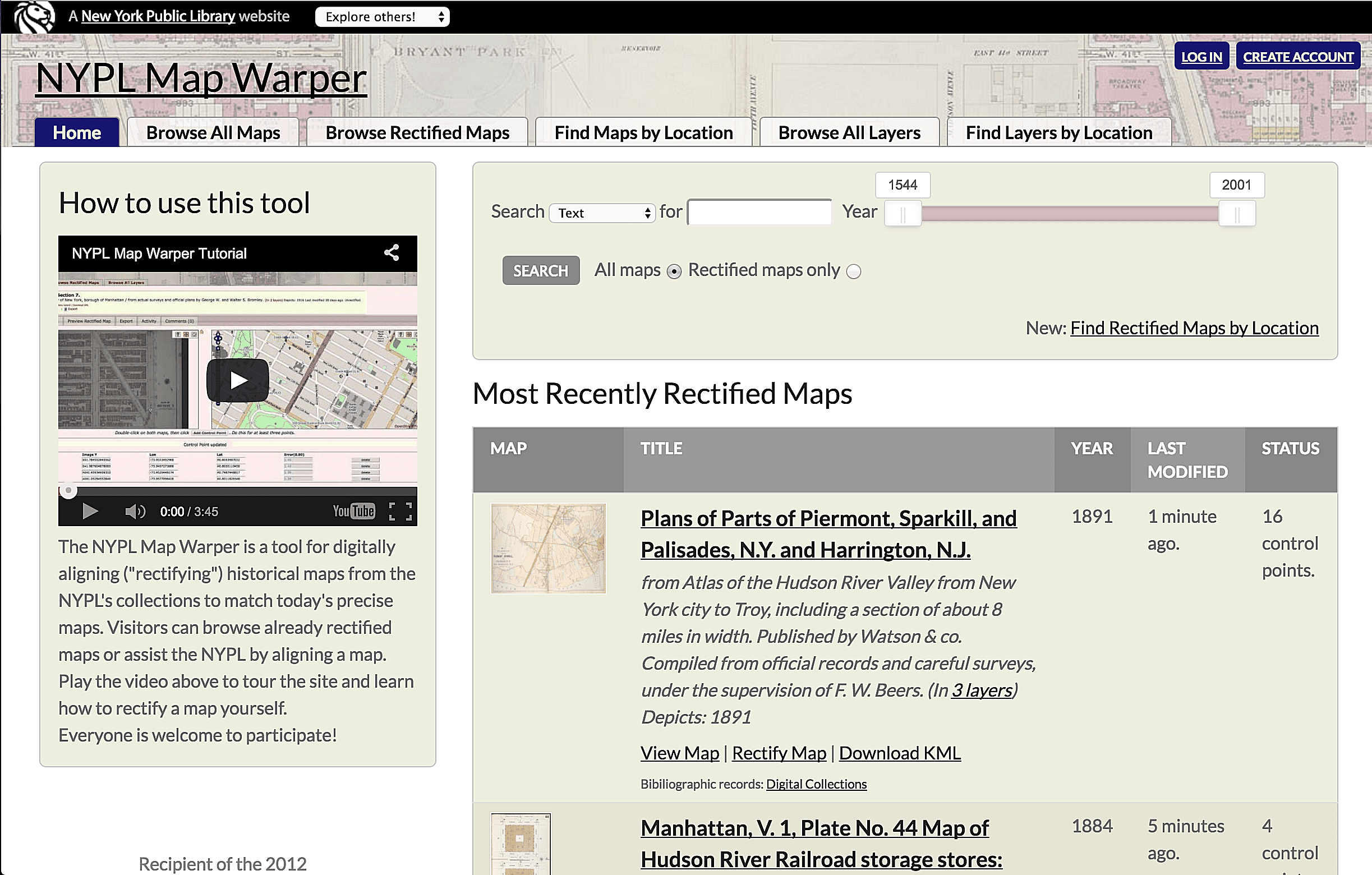 NYPL Map Warper