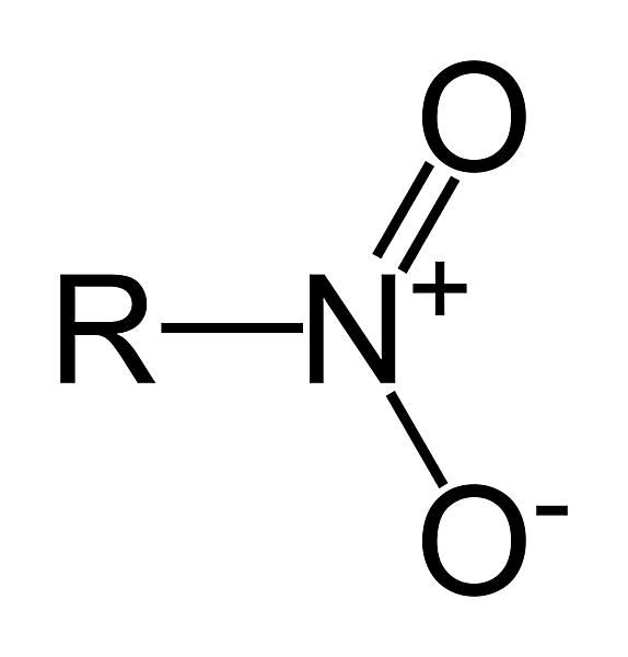 This is the two-dimensional structure of the nitro functional group.