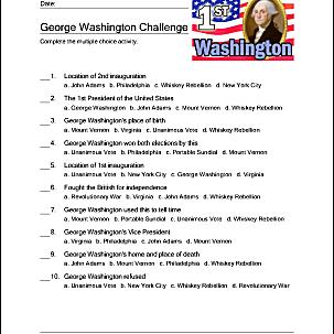 George Washington facts challenge