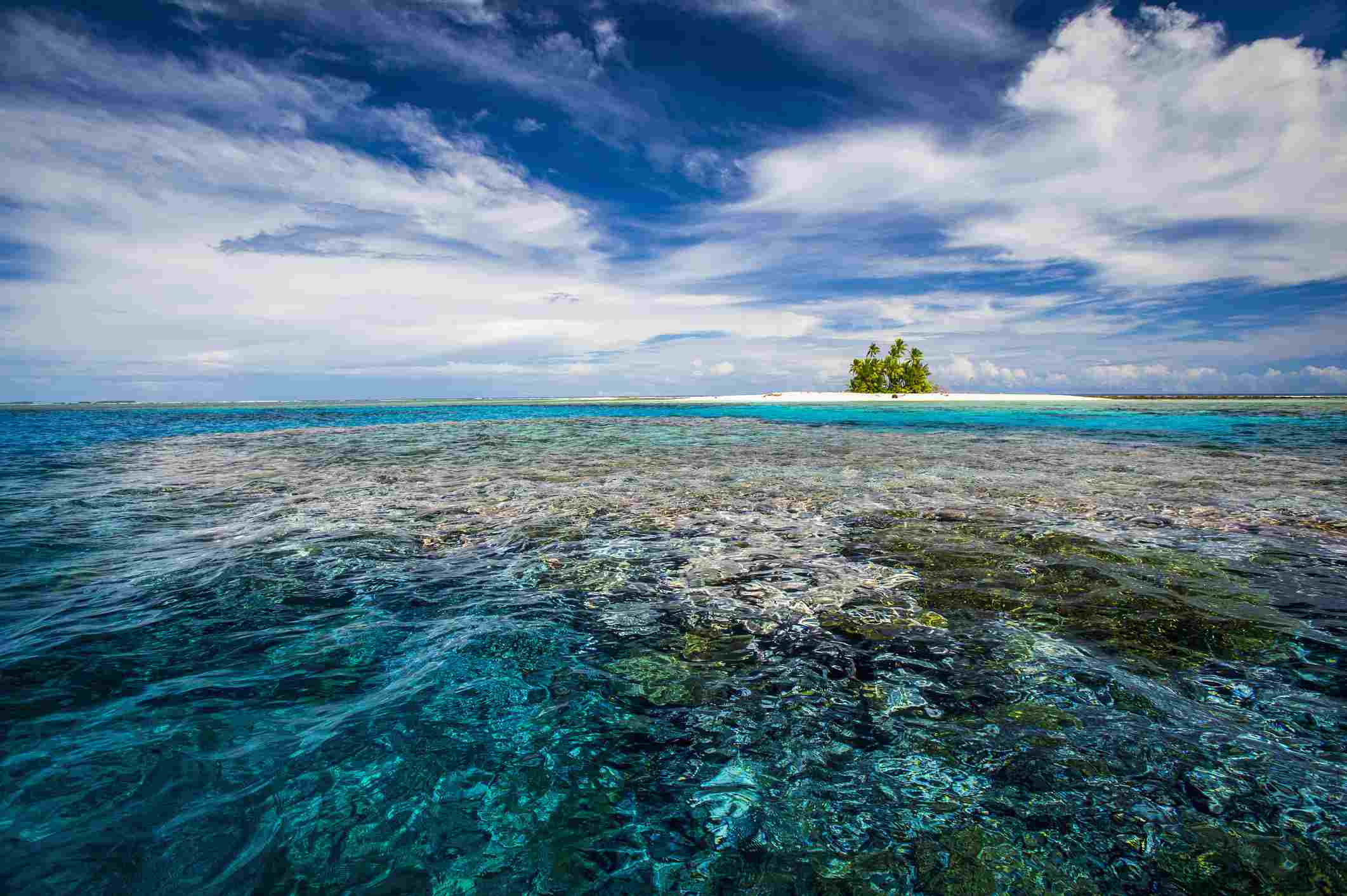 An island that forms part of the marine park, near the Tuvalu mainland
