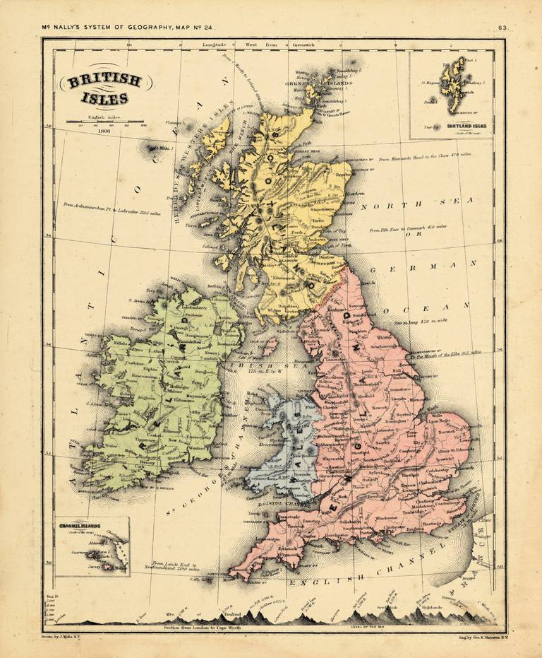 Map Of Old England Wessex.Heptarchy Seven Kingdoms In England