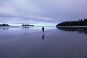 Figure in the distance walking on water