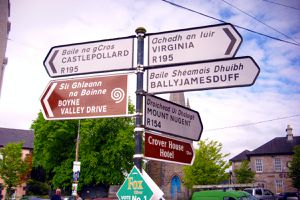 Road Signs in Oldcastle, County Meath