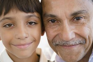A grandfather and his grandchild
