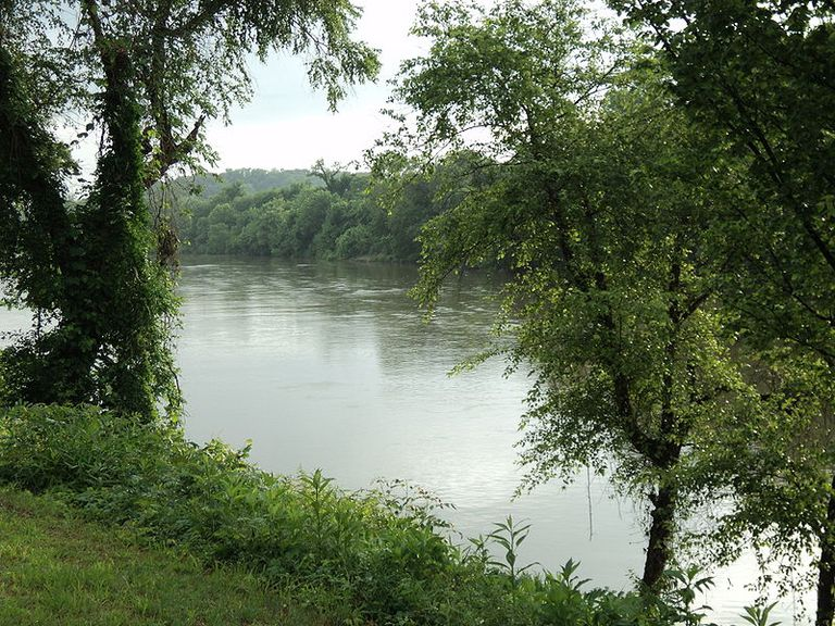 The Dan River in Danville, Virginia