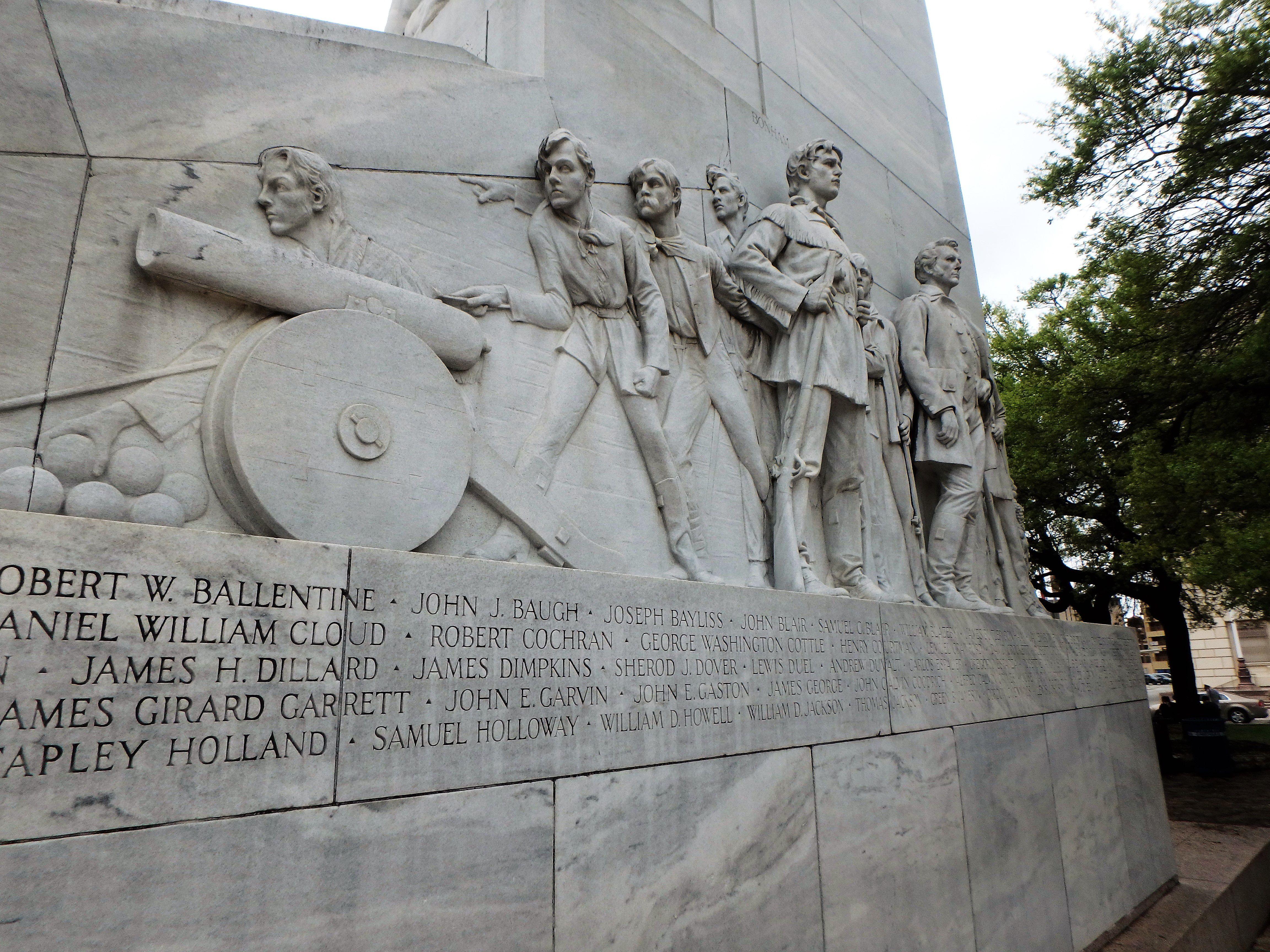 The Alamo Cenotaph in San Antonio, Texas, USA