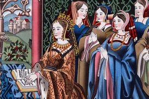 Margaret of Anjou and her court, from a costume book by Henry Shaw, 1843