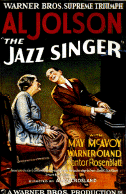 A movie poster for The Jazz Singer.