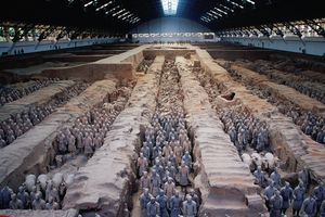 The Chinese terracotta army.