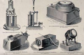 Components of the Wheatstone electromechanical telegraph network.