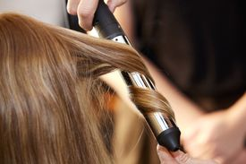 Person styling hair