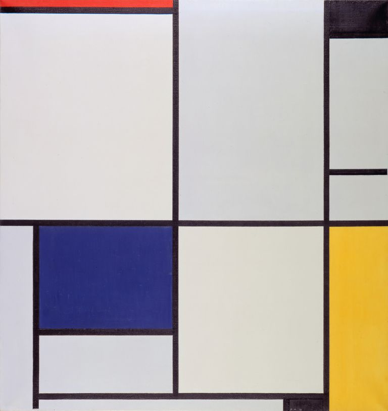 Tableau I, oil on canvas, Piet Mondrian