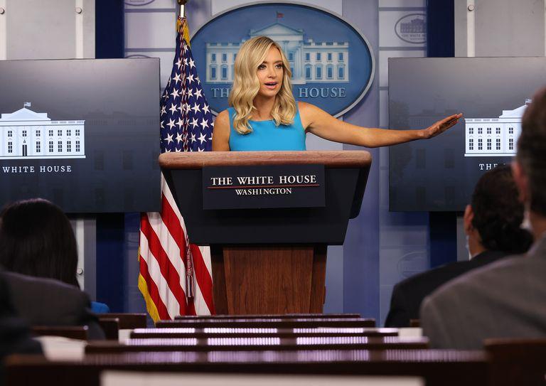 White House Press Secretary Kayleigh McEnany Holds Daily Press Briefing