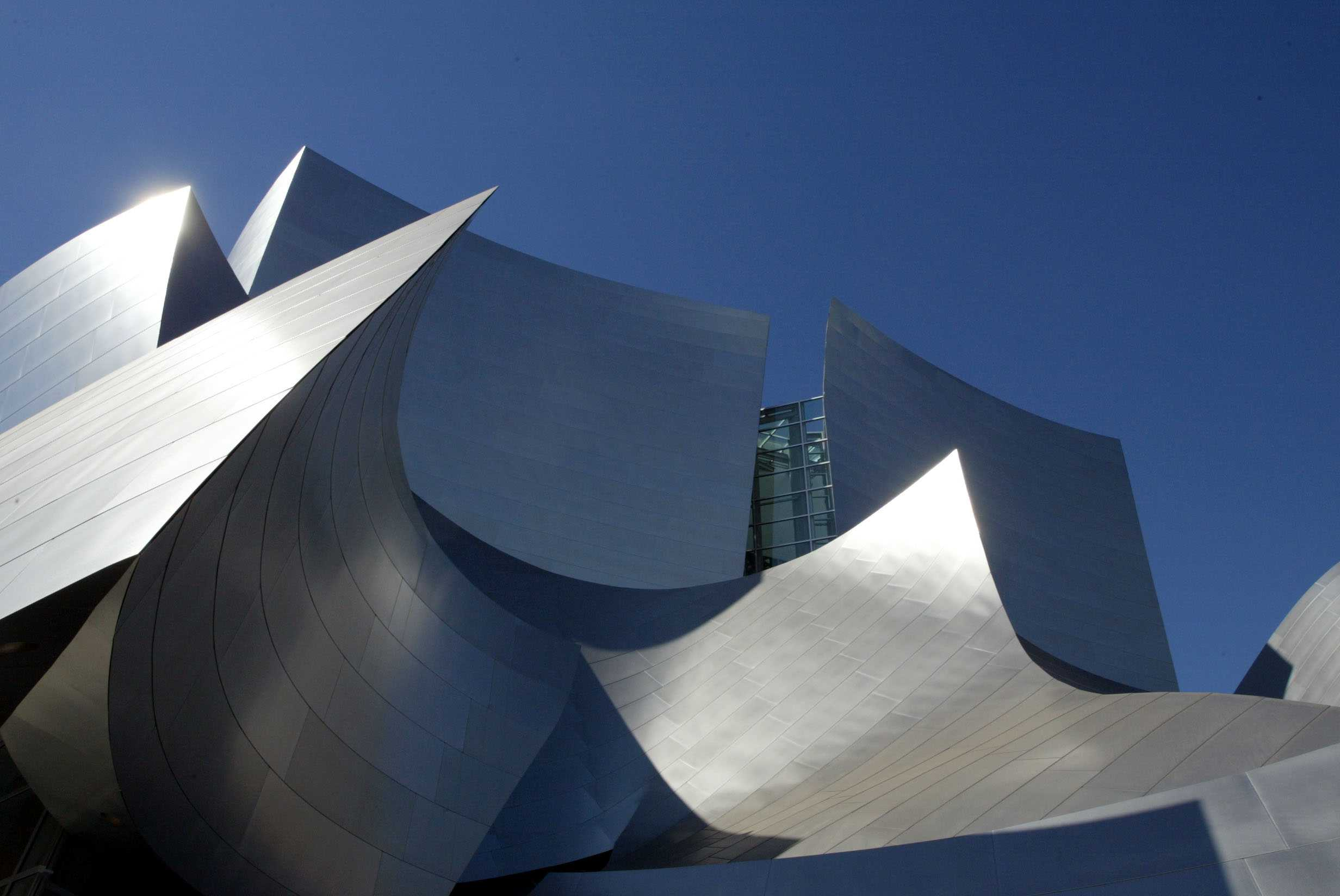 The Brushed Stainless Steel Covering of the Walt Disney Concert Hall in Los Angeles, California