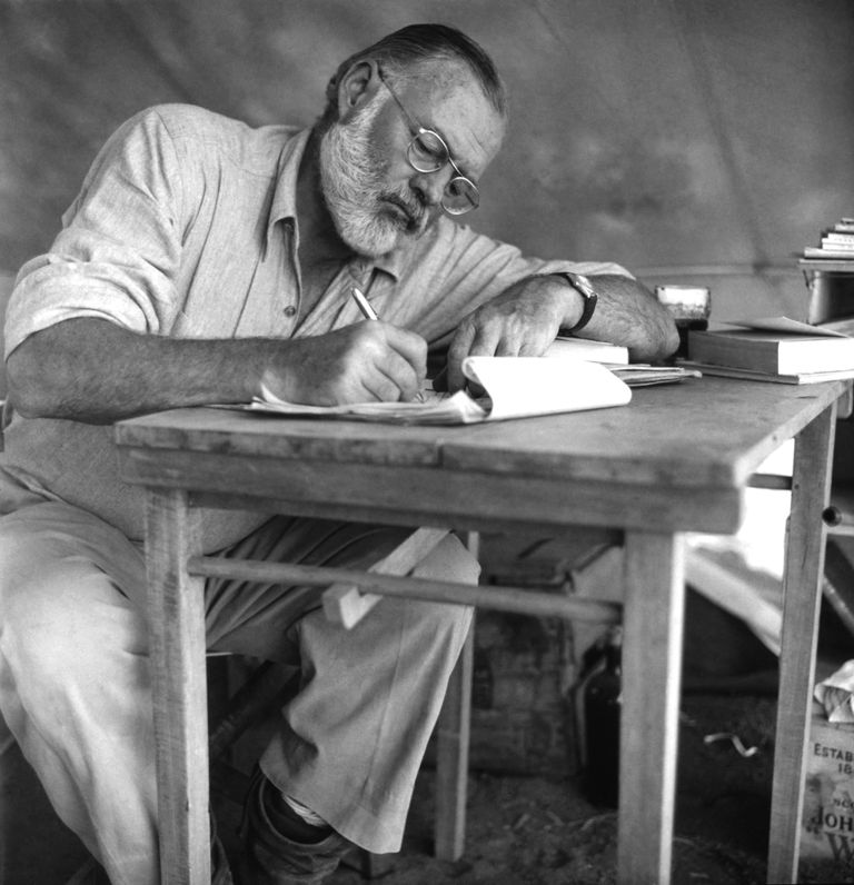 A picture of American writer Ernest Hemingway.