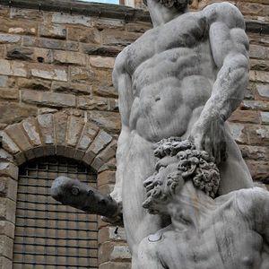 Hercules Punishing Cacus by Baccia Bandinelli, 1535-34