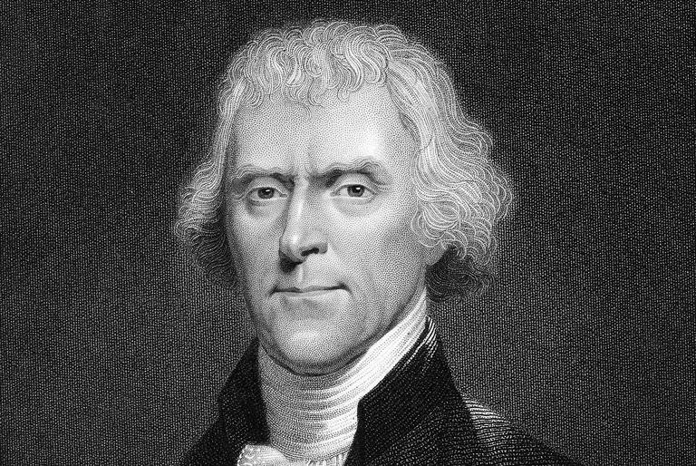 Engraved portrait of President Thomas Jefferson