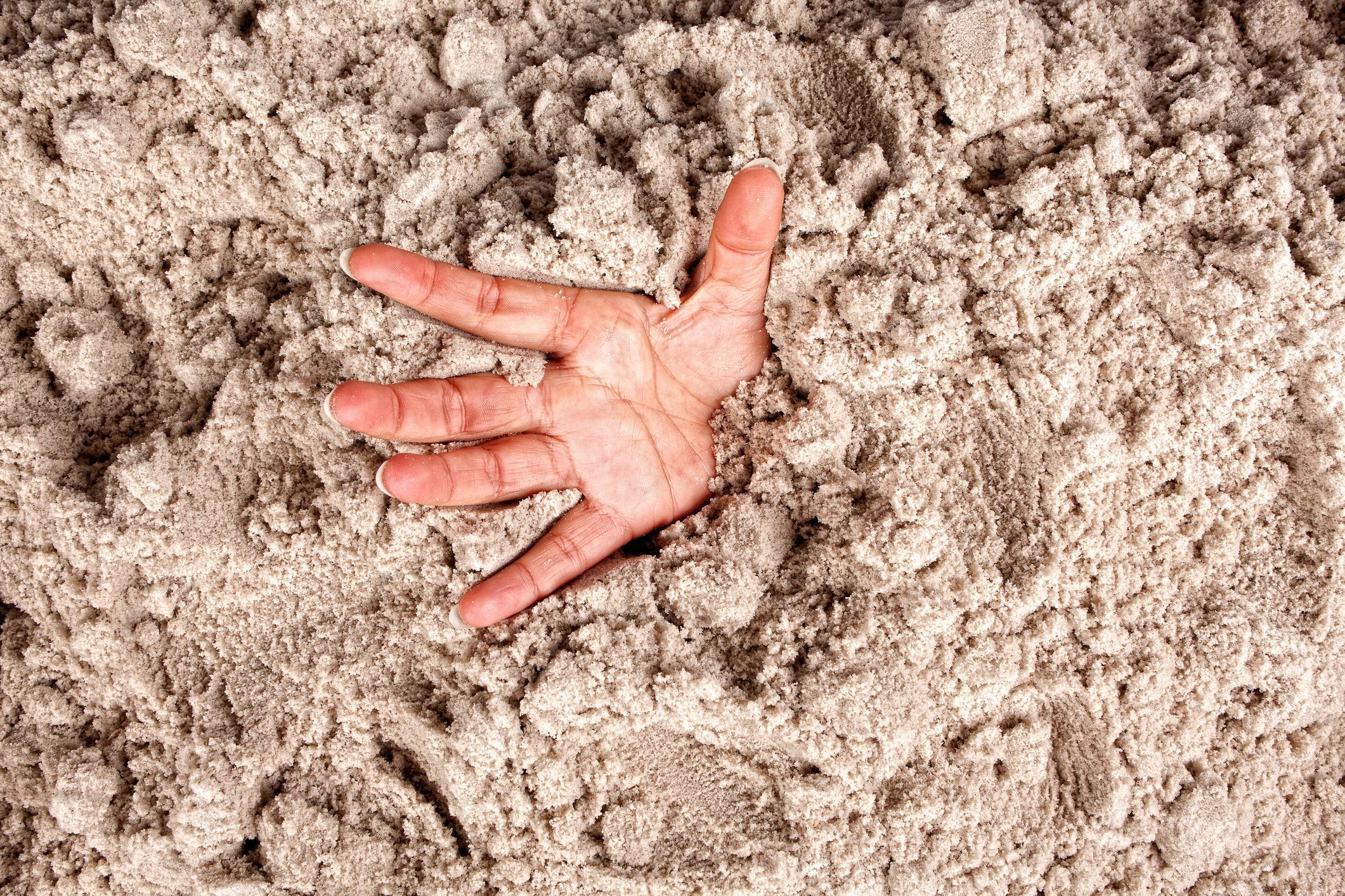 Quicksand can kill you, but not by swallowing you up. You can only sink to your waist.