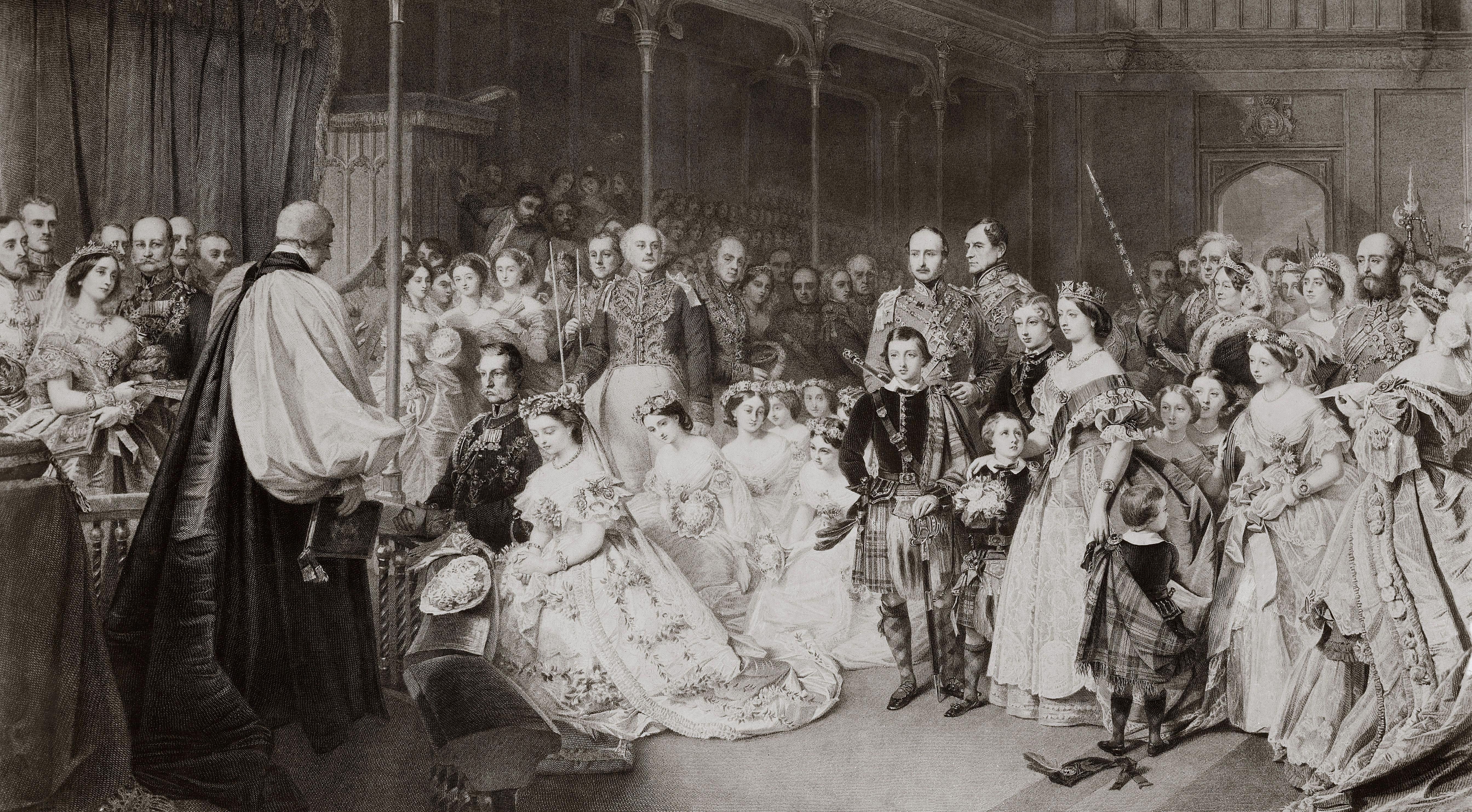 ロイヤルウェディング-ビクトリア、ロイヤル王女、およびプロシアの皇太子フレデリック
