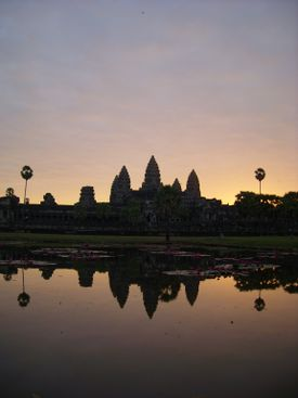 Angkor Wat was built in the twelfth century, during the reign of Suryavarman II.