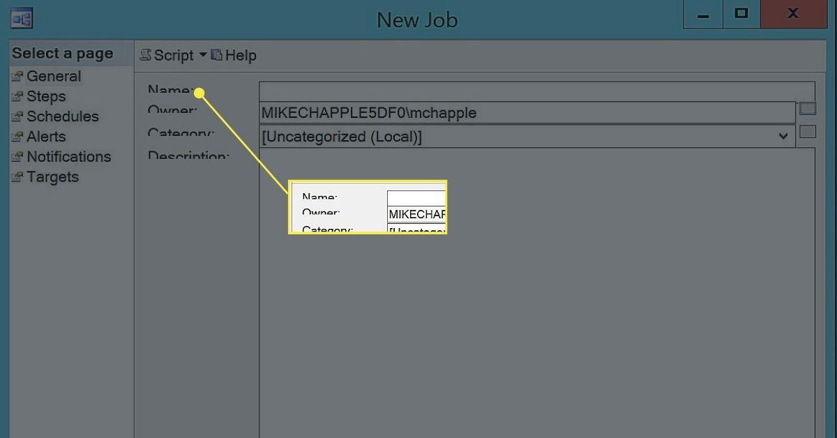 Creating a Job