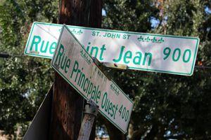 French language street signs, Lafayette, Louisiana
