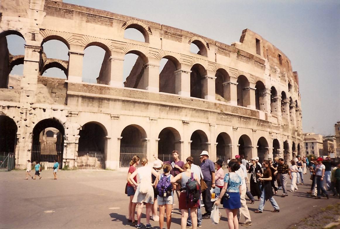 Exterior of the Roman Colosseum