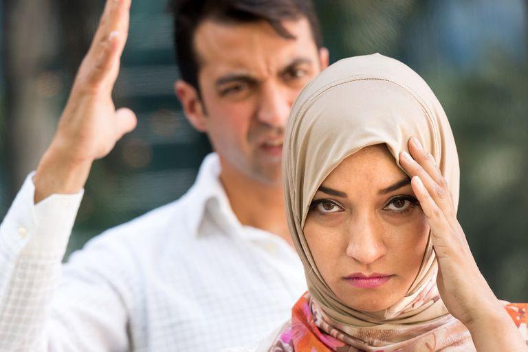Muslim couple having difficulties