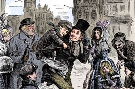 Scene From A Christmas Carol By Charles Dickens