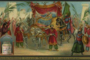 painting of Saladin's arrival in Jerusalem