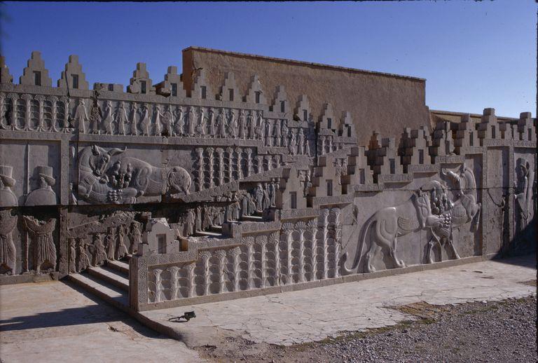 Relief Sculpture on Apadana Stairway at Persepolis