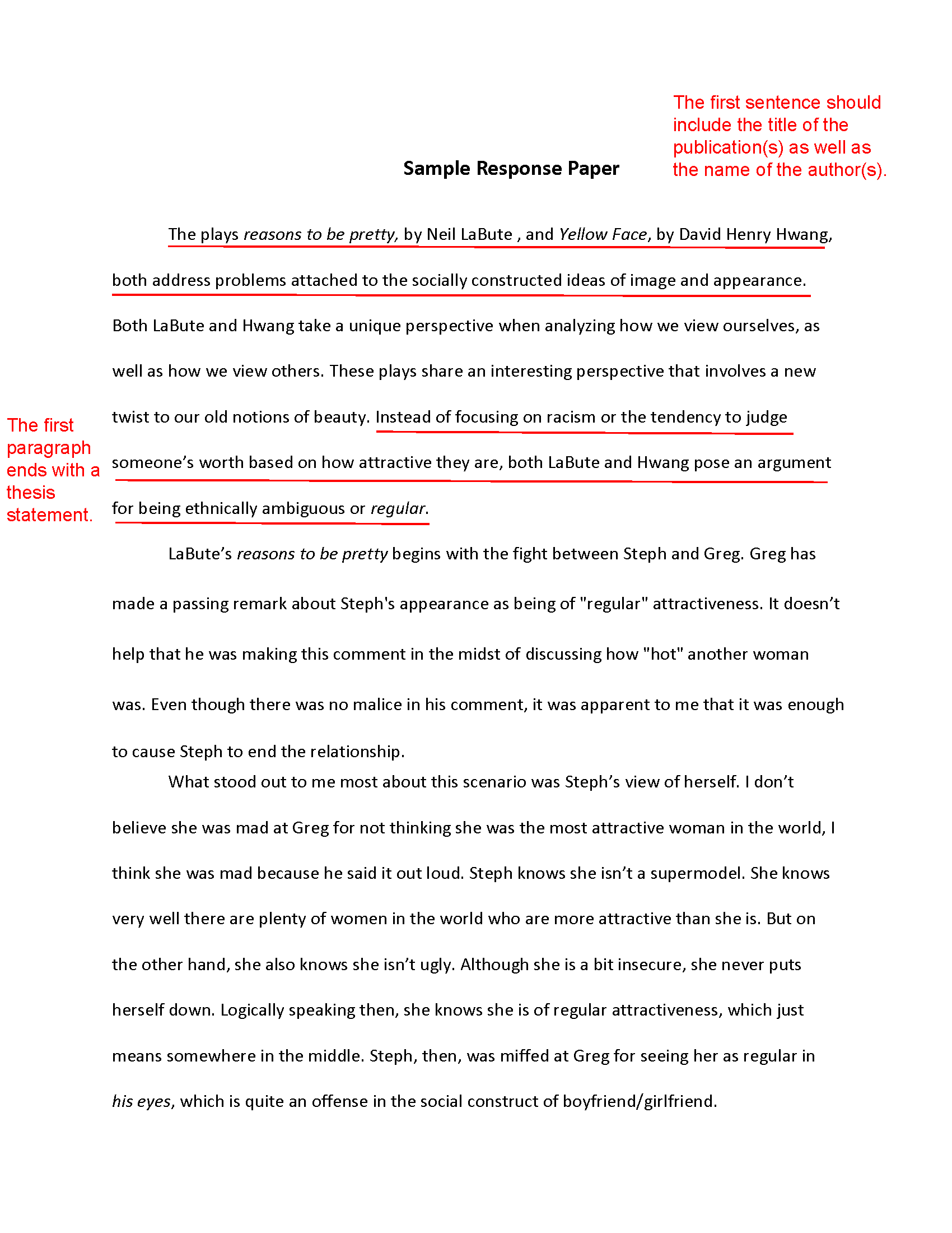 Sample Essay For High School Students  Business Communication Essay also Compare Contrast Essay Examples High School How To Write A Response Paper Thesis Statement For Persuasive Essay